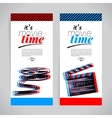 Set of movie banners cinema festival tickets vector