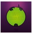 Halloween label design vector