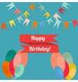 Happy birthday in style flat vector