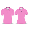 Polo shirt men and woman outline vector
