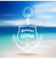 Summer design blur beach background vector