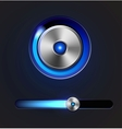 Glossy media player button and track bar vector