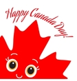 Happy canada day card vector