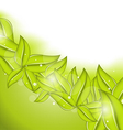 Ecology background with eco green leaves vector