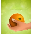 Hand holding an orange vector