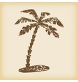 Grungy palm icon vector