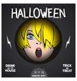 Halloween horror movie poster vector