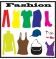 Abstract clothes vector