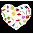 Heart from instant photos vector