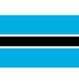 Flag of botswana vector