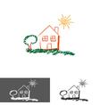 Home house logoicon vector