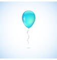 Turquoise balloon isolated on white background vector
