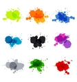 Watercolor hand painted circles set spot vector