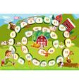 Farm board game vector