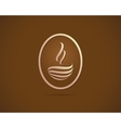 Coffee cups icons stylized sketch symbol vector