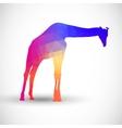 Geometric silhouettes animals giraffe vector
