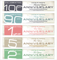 Anniversary retro banner set vector