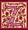 Vintage letter z vector