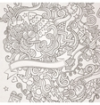 New year sketch background vector