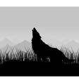 Wolf howls vector