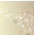 Christmas elegant beige background vector