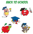 Graduation cartoon character-collection vector