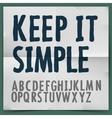 Simple alphabet vector