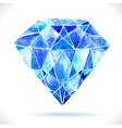 Watercolor beautiful blue diamond vector