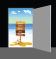 Beach behind the door part two vector