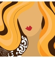 Girl face with red hair vector