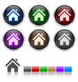 Colorful honeycomb home icon vector