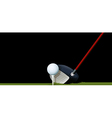 A club and a ball vector