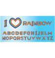Alphabet - rainbow letters vector