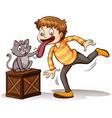 A cat got your tongue idiom vector