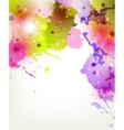 Abstract artistic background forming by blots vector