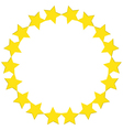 A round star template vector