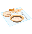 Meal on table vector