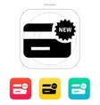 New credit card icon vector