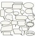 Comic style speech bubbles vector