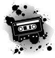 Grunge cassette vector