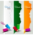 Torn paper banners with space for text school time vector