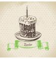 Easter cake vector