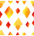 Watercolor rhombus seamless pattern vector