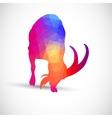 Geometric silhouettes animals goat ibexes vector