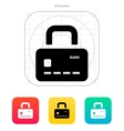 Credit card abstract padlock icon secure payment vector