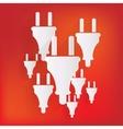 Electric plug icon fork symbol vector
