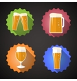 Beer glass set flat icon vector