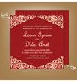 Wedding card red vector
