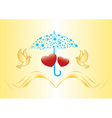 Arts under umbrella vector illustration vector