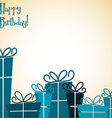 Collection of bright retro presents card in format vector